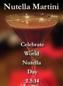 Celebrate World Nutella Day with our Nutella Martini!